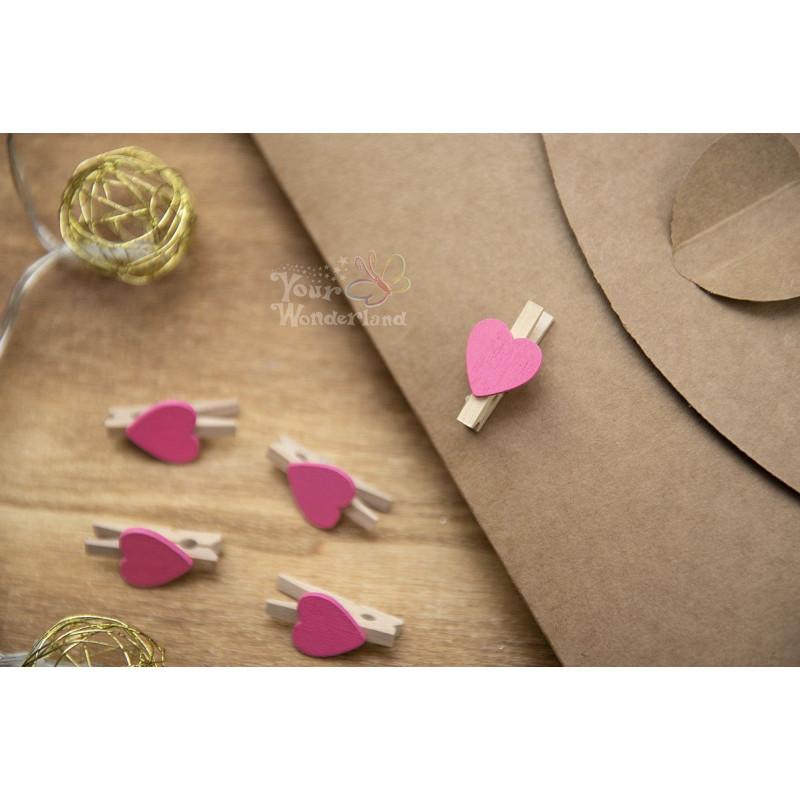 Klamerki różowe MINI  - 1