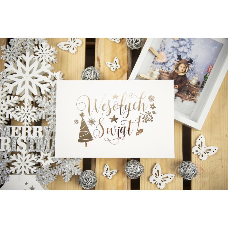 """Folder """"Wesołych Świąt"""" - 15x23 - BIAŁY  - 1"""