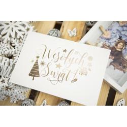 """Folder """"Wesołych Świąt"""" - 15x23 - BIAŁY  - 2"""