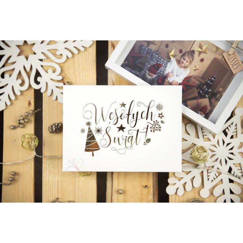 """Folder """"Wesołych Świąt"""" - 13x18 - BIAŁY  - 2"""